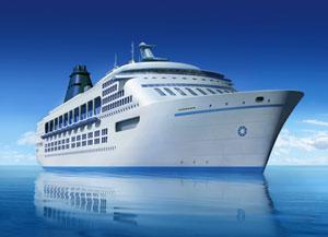 Kreurzfahrtschiff im Mittelmeer