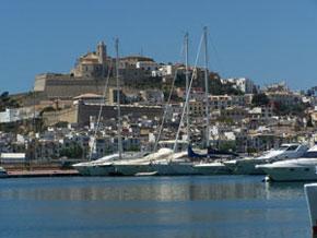 Blick auf Ibiza